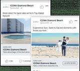Keys to Hotel Advertisement on Facebook